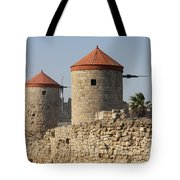 Windmills Of Rhodos - Port Of The Myloi Tote Bag