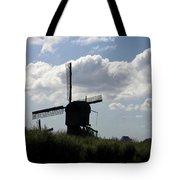 Windmills Silhouette Tote Bag