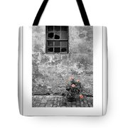 Window And Flowers Poster Tote Bag