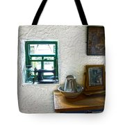 Window And Little Dressing Table In An Old Thatched Cottage Tote Bag
