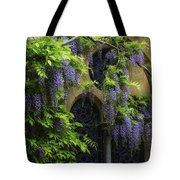 Window Behind Wisteria Tote Bag