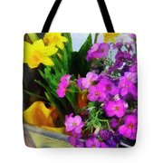 Window Box On A Windy Day Tote Bag