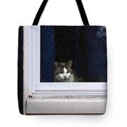 Window Cat Tote Bag
