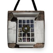 Window Decorations In Williamsburg Tote Bag