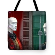 Window Display In Toronto At Christmas Time Tote Bag