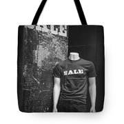 Window Display Sale In Black And White Photograph With Mannequin No.0129 Tote Bag