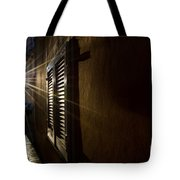 Window In An Alley With Sunlight Tote Bag