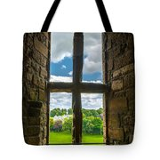 Window In Linlithgow Palace With View To A Beautiful Scottish Landscape Tote Bag