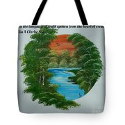 Window Of Peace Quotes Tote Bag