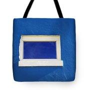 Window On Blue Tote Bag