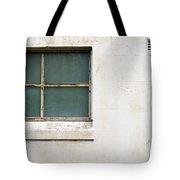 Window On Concrete Tote Bag