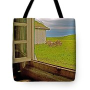 Window On Sod-covered Roof In Louisbourg Living History Museum-1744-ns Tote Bag