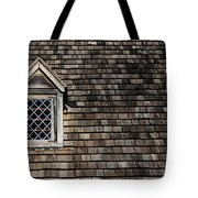 Window On Squares Tote Bag