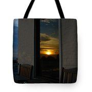 Awesome Sunset Window Reflections Downtown Charleson Sc Tote Bag by Ella Char