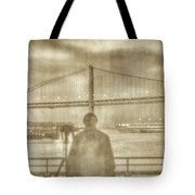 window self-portrait Embarcadero San Francisco Tote Bag