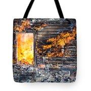 Window Thru The Depth Of Firey Fury Tote Bag