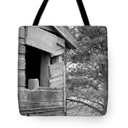 Window To Nowhere - Black And White Tote Bag