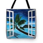 Window To Paradise Beach Tote Bag