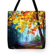 Window To The Fall - Palette Knife Oil Painting On Canvas By Leonid Afremov Tote Bag