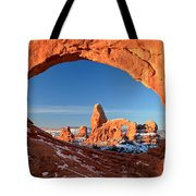 Window To Turret Arch Tote Bag