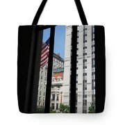 Window View With Flag Tote Bag