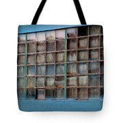 Windows In Blue Building 3 Tote Bag