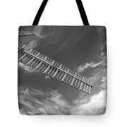 Winds Of Time Black And White Tote Bag