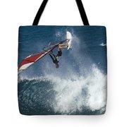 Windsurfer Hanging In Tote Bag