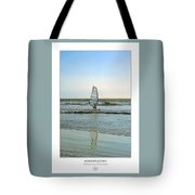 Windsurfing Art Poster - California Collection Tote Bag