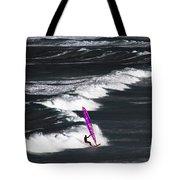 Windsurfing Man Tote Bag