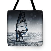 Windsurfing With Water Drops On Camera Tote Bag