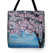 Windswept Blossoms Tote Bag