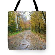 Windy And Rainy Fall Day Tote Bag
