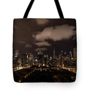 Windy City At Night Tote Bag