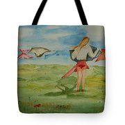 Windy Day Funny Watercolor Tote Bag