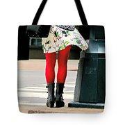 Windy Morning In Manhattan Tote Bag