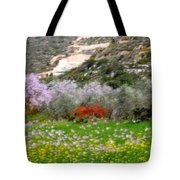 Windy Spring Day Tote Bag