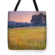 Windy Sunset At The Medieval Castle Tote Bag