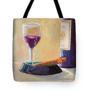 Wine And Cigar Tote Bag