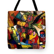 Wine And Flowers For Two Tote Bag