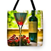 Wine And Grapes In The Window Tote Bag
