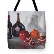 Wine And Pomegranates Tote Bag