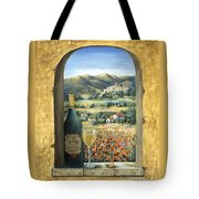 Wine And Poppies Tote Bag