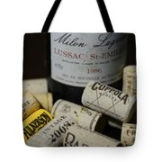 Wine And Wine Corks Tote Bag by Paul Ward