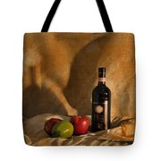 Wine Apples And Cheese Tote Bag