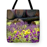 Wine Barrels At V. Sattui Napa Valley Tote Bag