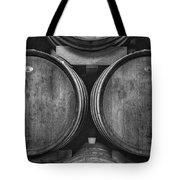 Wine Barrels Monochrome Tote Bag