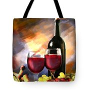 Wine Before And After Tote Bag