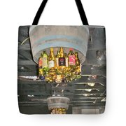 Wine Bottle Chandelier Tote Bag