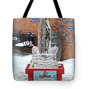 Wine Bottle Ice Sculpture Tote Bag